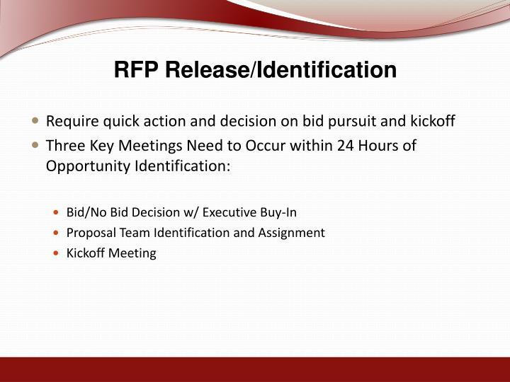 RFP Release/Identification