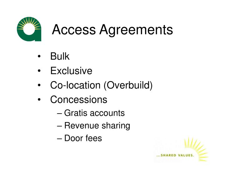 Access Agreements