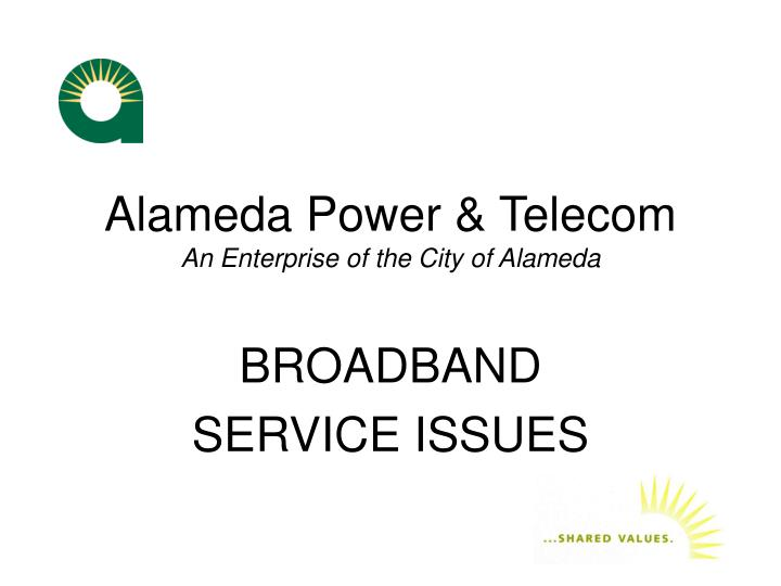 Alameda power telecom an enterprise of the city of alameda