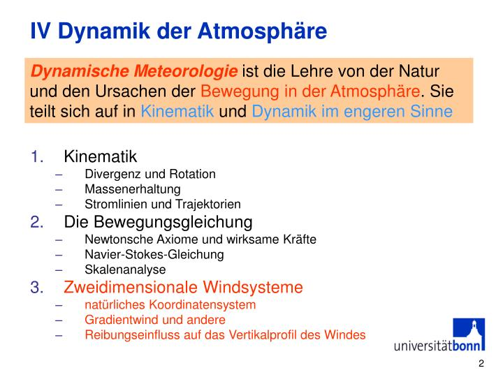 Iv dynamik der atmosph re