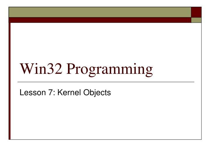 win32 programming n.