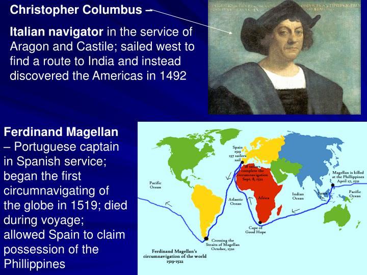 Christopher Columbus –