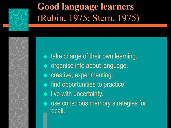 Good language learners