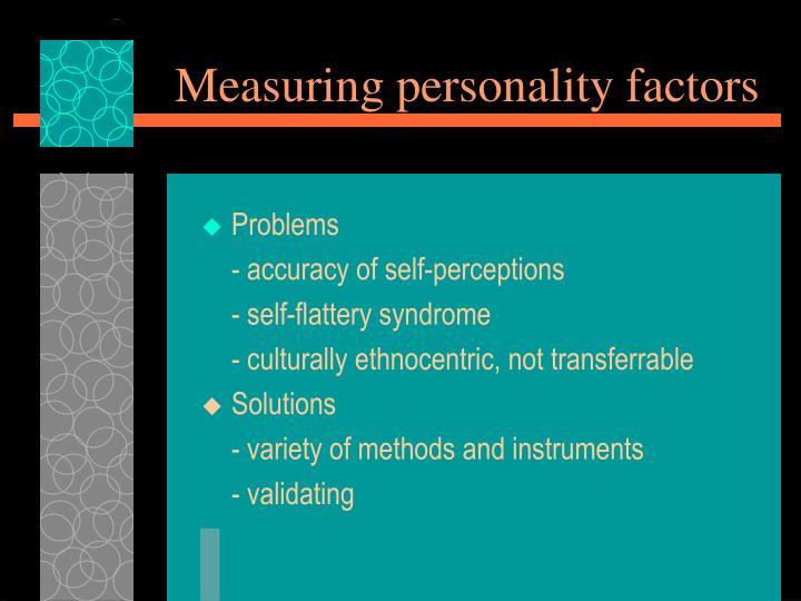 Measuring personality factors
