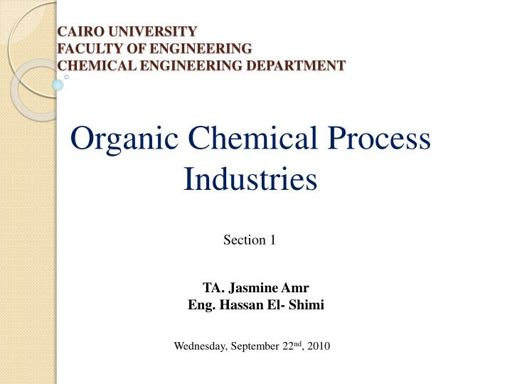 cairo university faculty of engineering chemical engineering department n.
