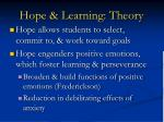 hope learning theory