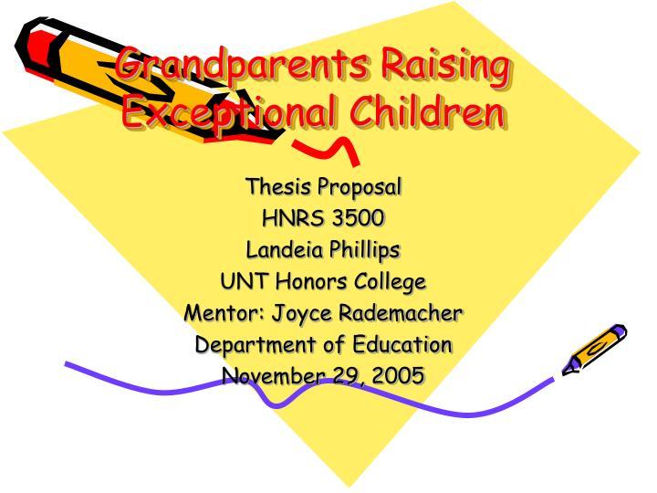 grandparents raising exceptional children n.