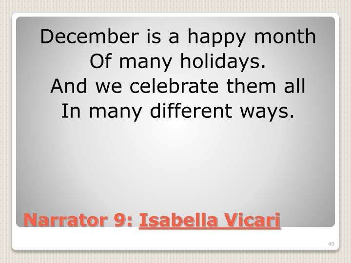 December is a happy month