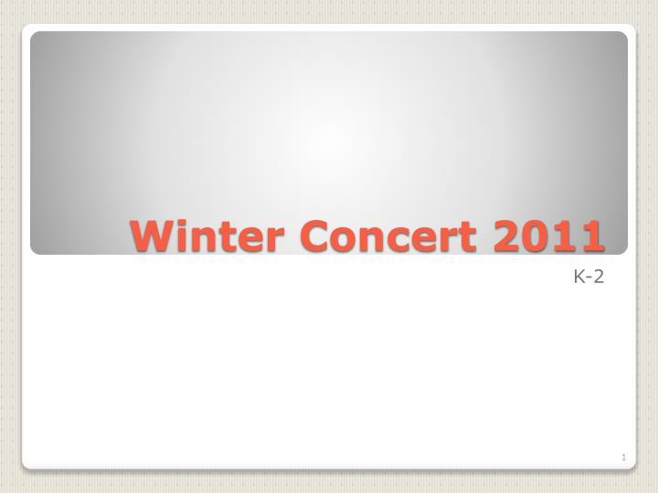 winter concert 2011 n.