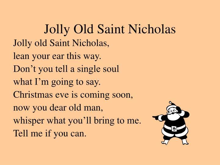 Jolly Old Saint Nicholas
