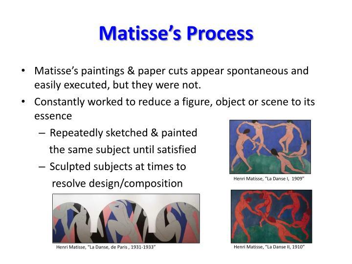 Matisse's Process