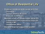 office of residential life
