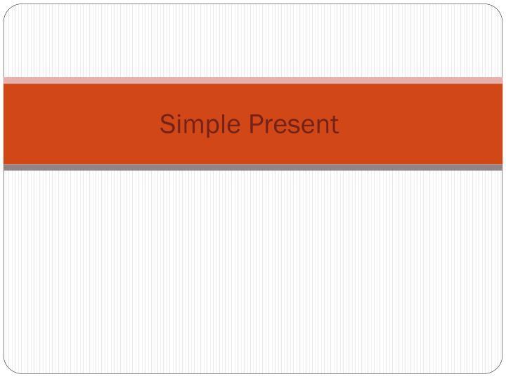 simple present n.