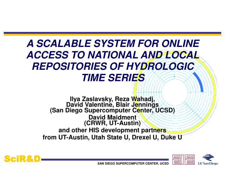a scalable system for online access to national and local repositories of hydrologic time series n.