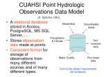 cuahsi point hydrologic observations data model