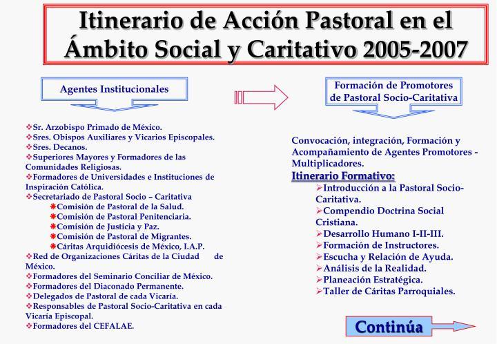 itinerario de acci n pastoral en el mbito social y caritativo 2005 2007 n.