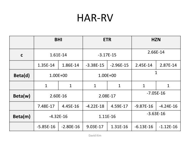 HAR-RV