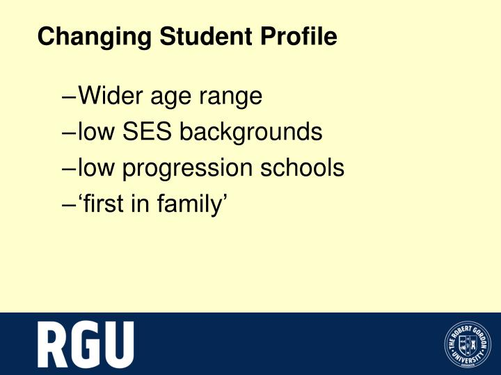 Changing Student Profile