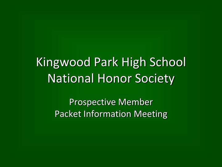 Kingwood park high school national honor society