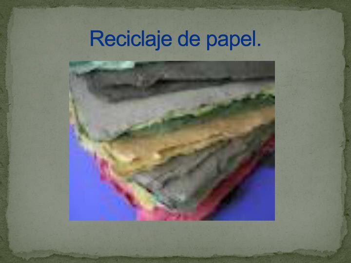 reciclaje de papel n.