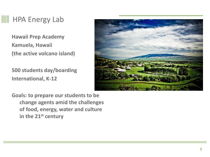 hpa energy lab n.