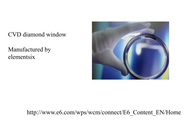 CVD diamond window