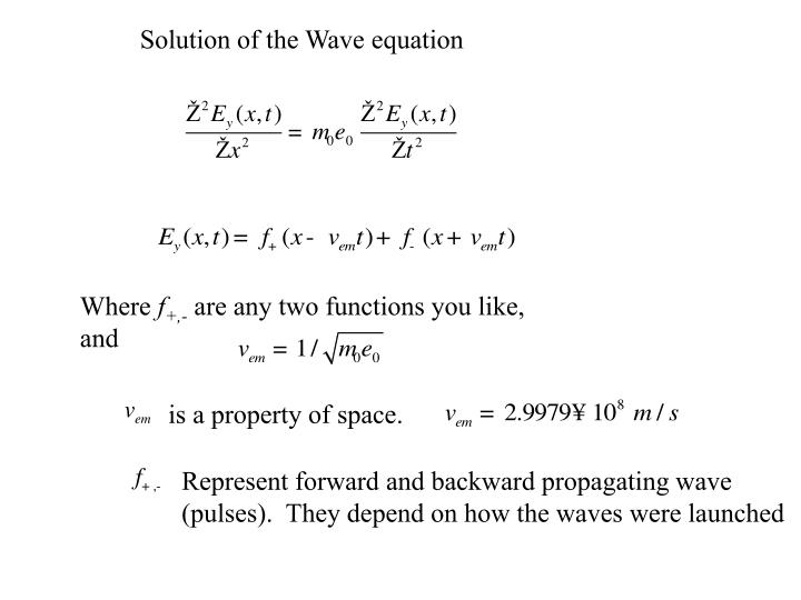 Solution of the Wave equation