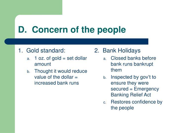 1.  Gold standard: