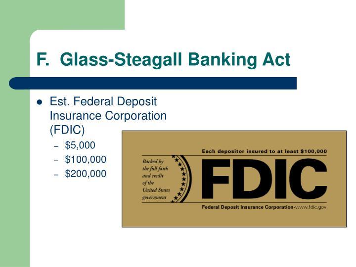 Est. Federal Deposit Insurance Corporation (FDIC)