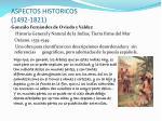 aspectos historicos 1492 1821