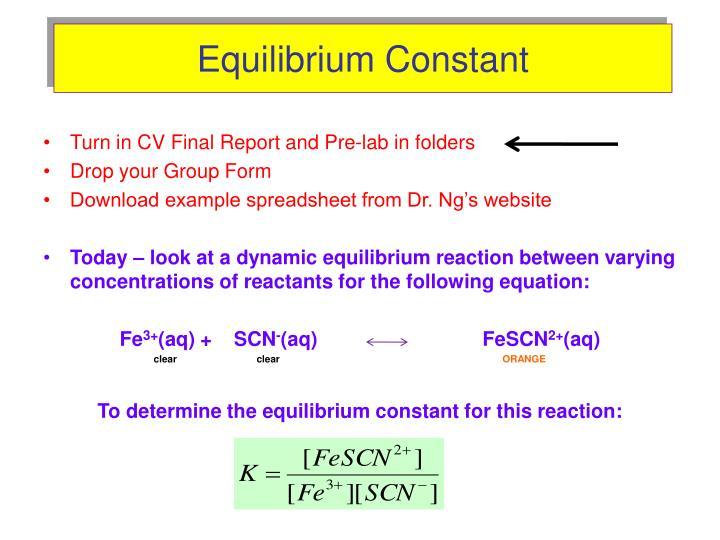 PPT - Equilibrium Constant PowerPoint Presentation - ID:3537782