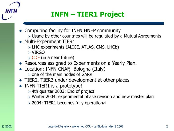 Infn tier1 project