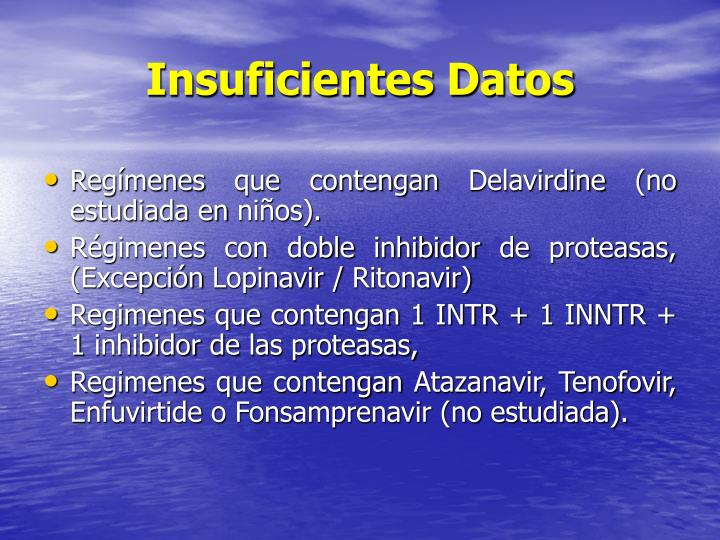 Insuficientes Datos