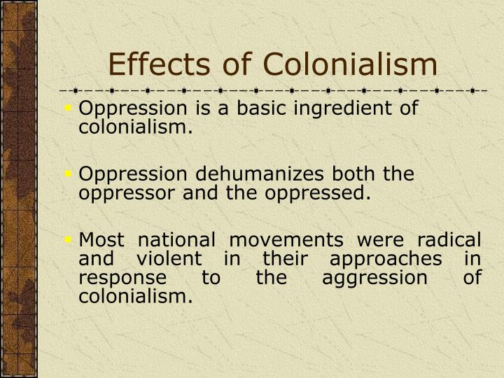 Effects of Colonialism