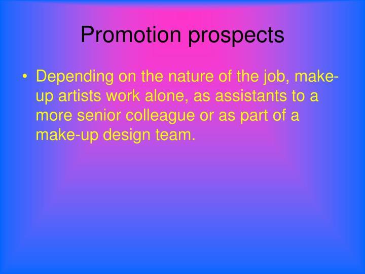 Promotion prospects