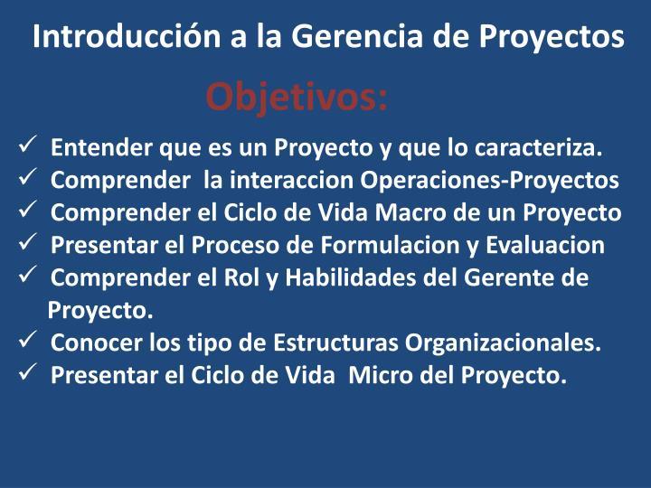 Ppt Introducción A La Gerencia De Proyectos Powerpoint