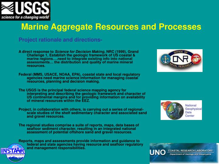 Marine Aggregate Resources and Processes
