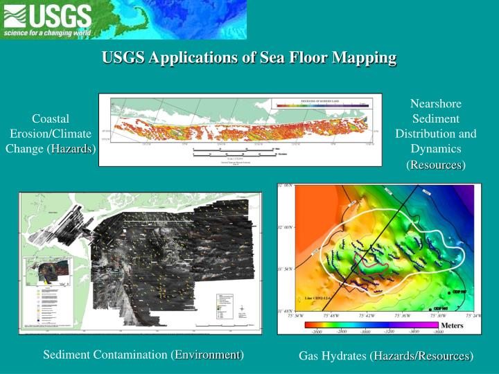 USGS Applications of Sea Floor Mapping