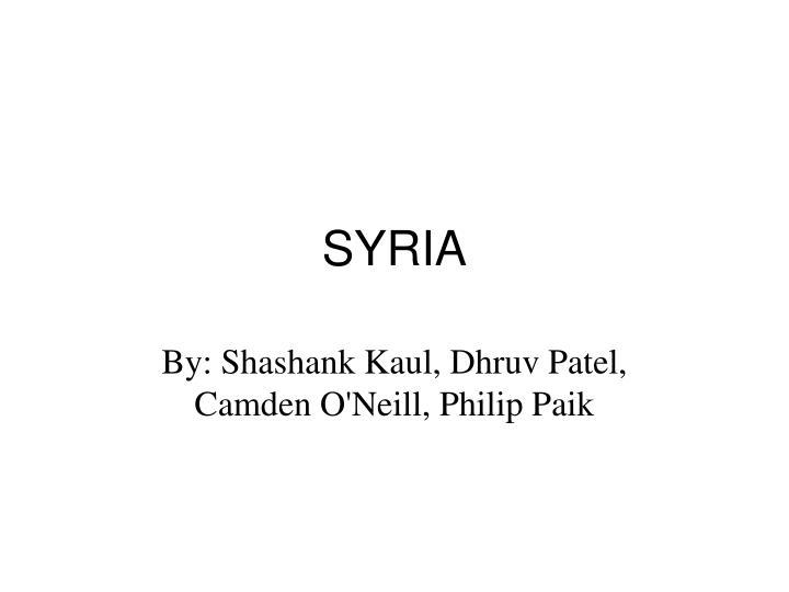 syria n.