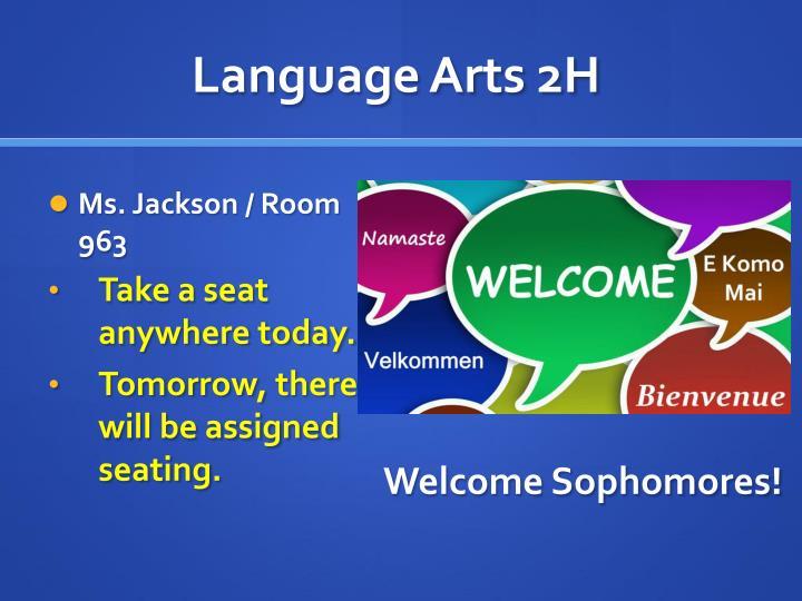 Language arts 2h
