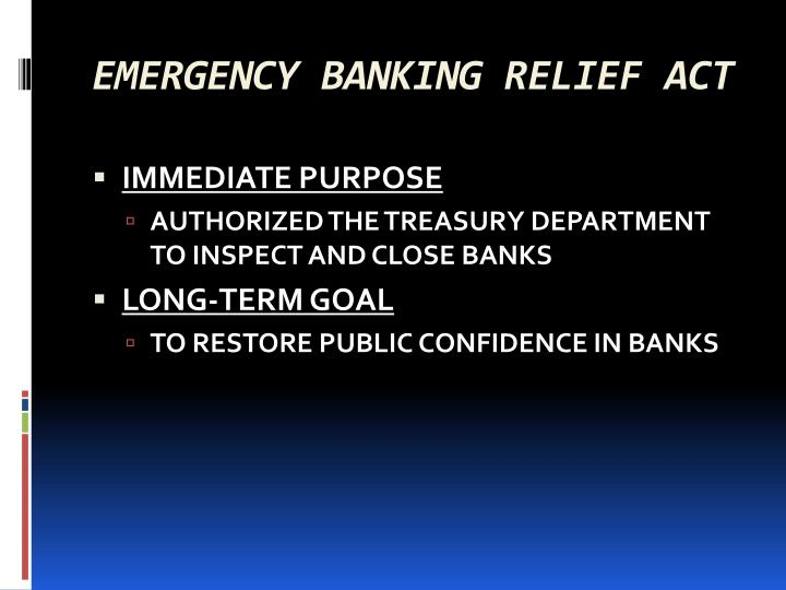 emergency banking relief act n.