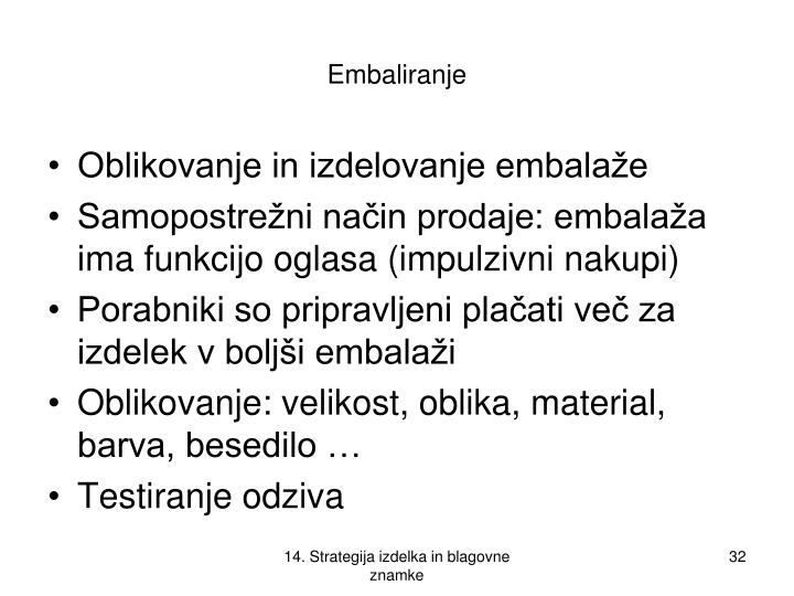 Embaliranje