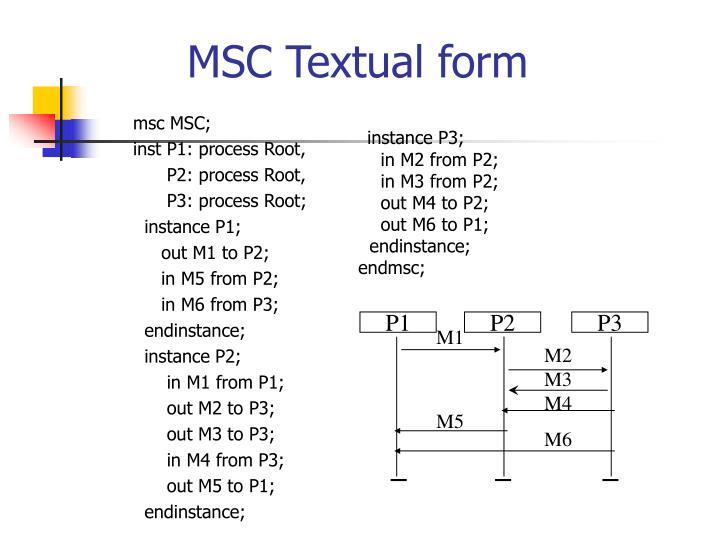 msc MSC;