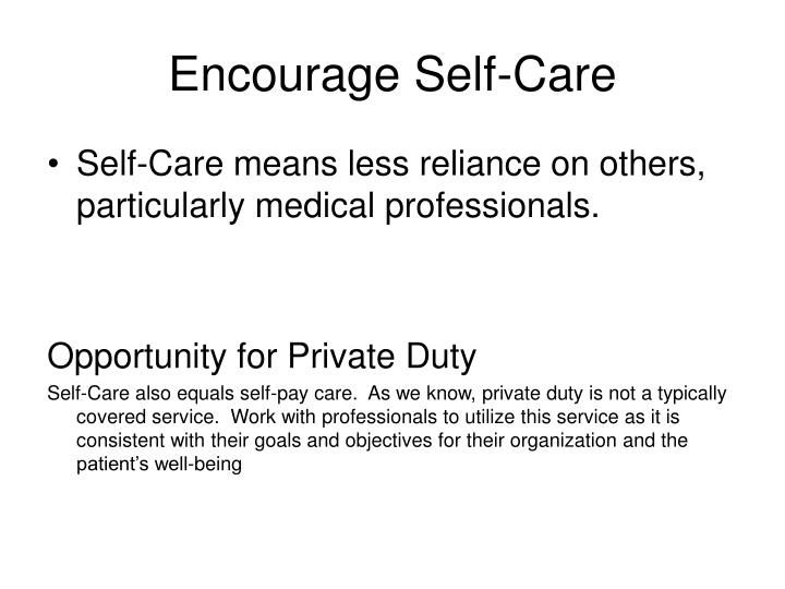 Encourage Self-Care