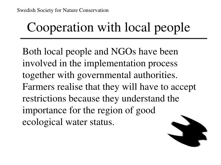 Cooperation with local people