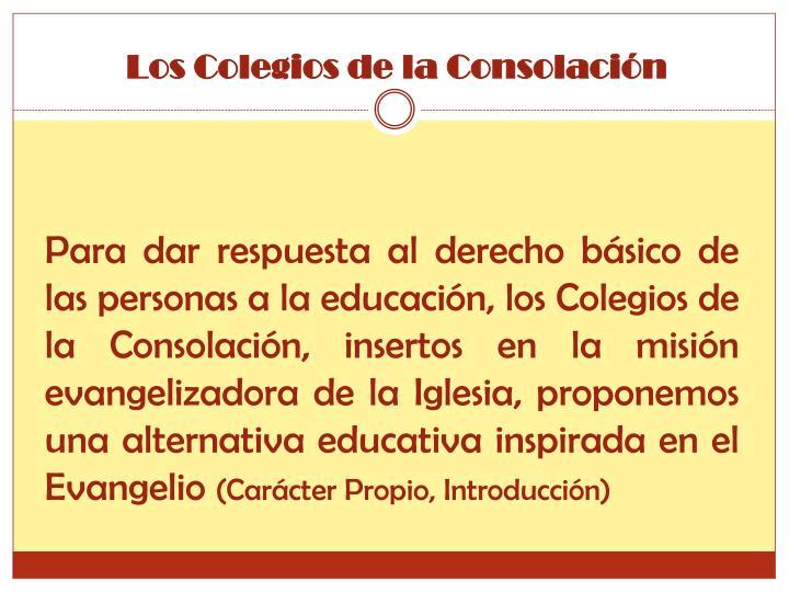 Los Colegios de la Consolación
