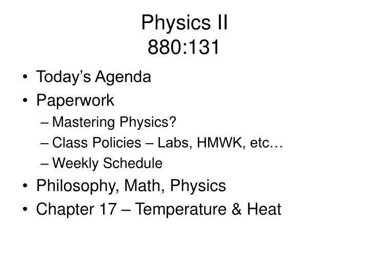 physics ii 880 131 n.