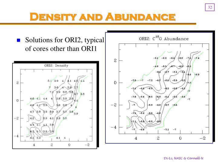 Density and Abundance