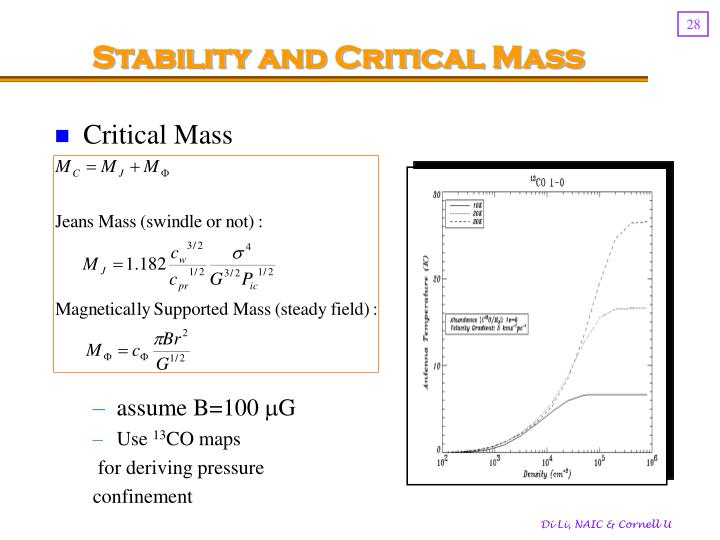 Stability and Critical Mass