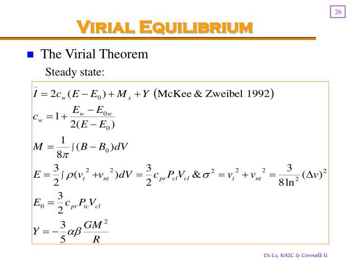 Virial Equilibrium